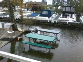 Chester Marina flood