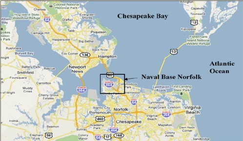 Notfold naval base map