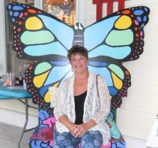 Tracy enjoying the Butterfly Conservancy, Mackinac Island