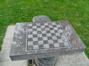 Chess table, St Joseph, MI